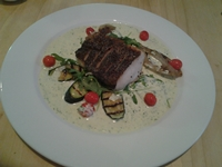 Franck Dangeroux's Grilled Sustainable Fish, Burnt Vegetables and Garlic & Parsley Sauce