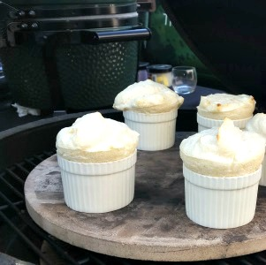 Pear Soufflé with Muscovado Cream
