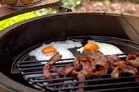 Big Green Egg Bacon and Eggs