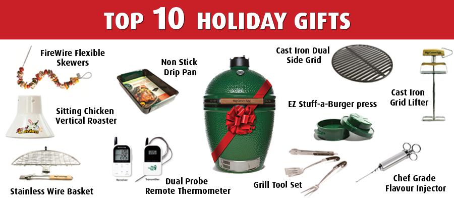 Big Green Egg Top 10 Holiday Gifts