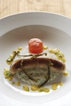 Neil Jewell's Tuna Boerewors with Pap, Corn Puree and Chilli Jelly